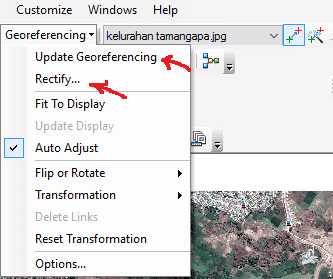 Arcgis georeferencing