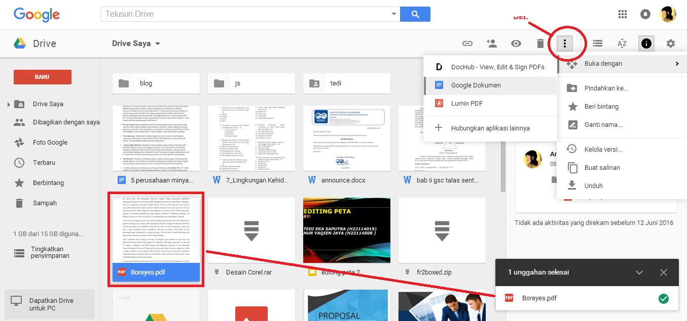 Translate di google drive
