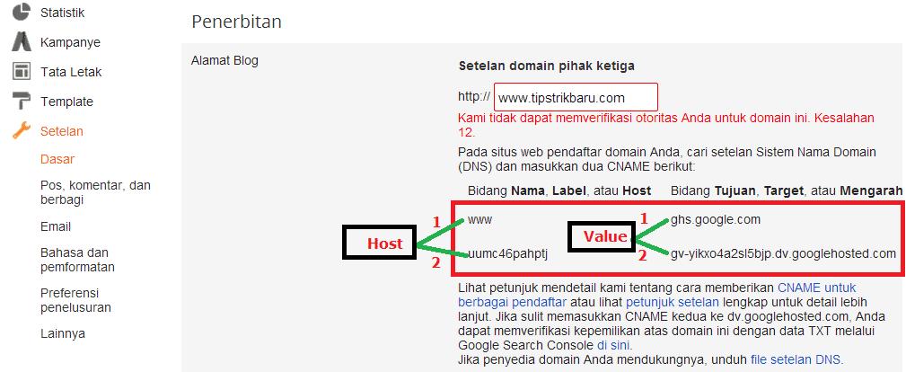 Cara mudah mengganti domain blogspot.com ke TLD