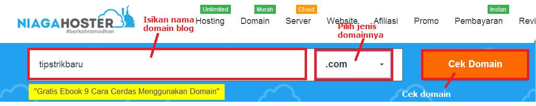 cara daftar domain niagahoster