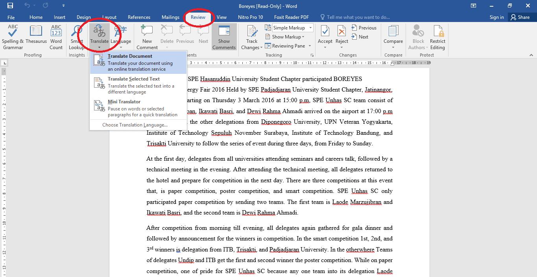 translate file pdf di ms word