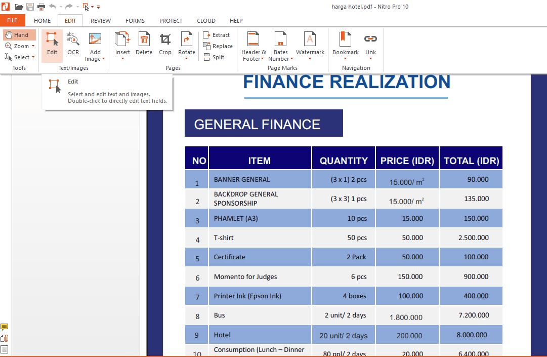 Edit pdf dengan nitro