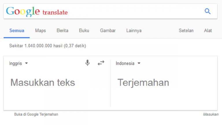 translate situs bahasa inggris