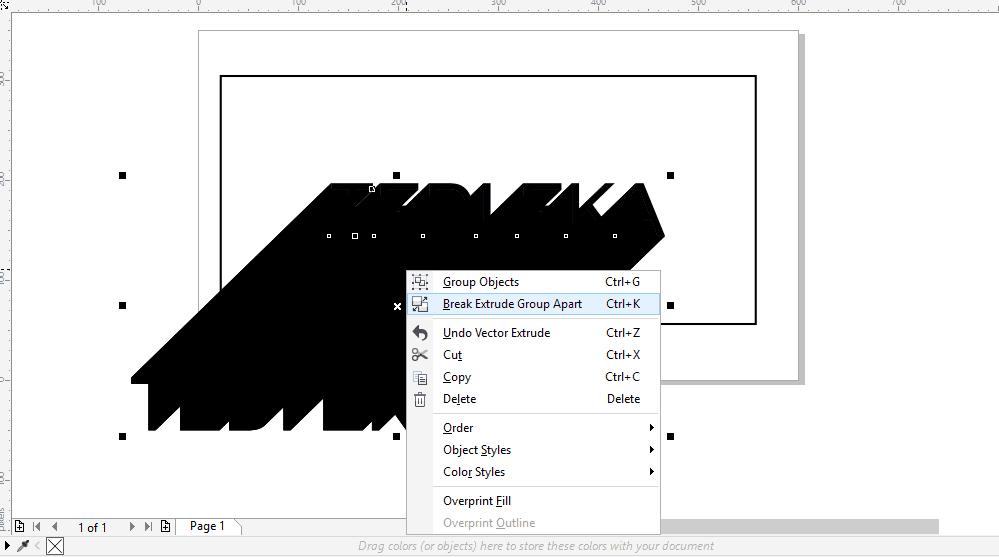 Membuat efek long shadow di corel tahap 3