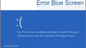 Error your pc ran into a problem and needs to restart