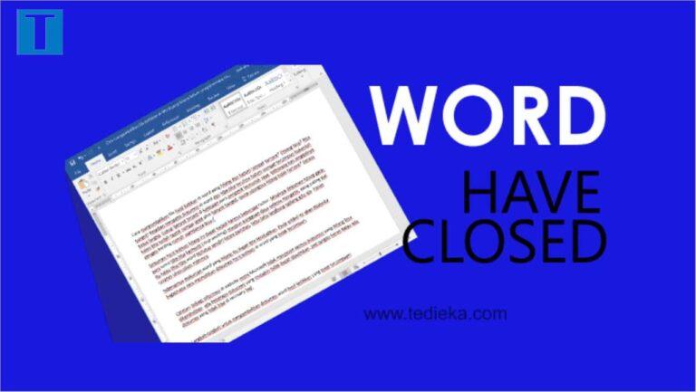 Cara mudah untuk mengemballikan file dokumen atau hasil ketikan di word yang hilang dan belum sempat tersave.