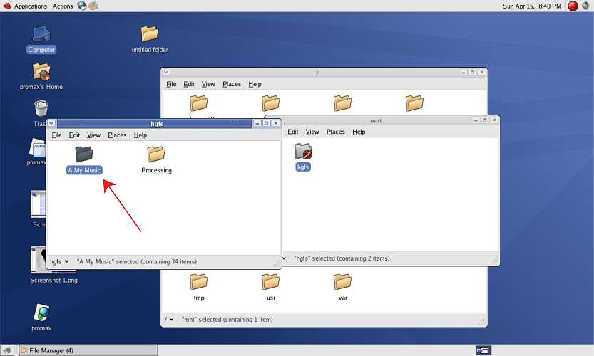 Menghubungkan folder windows dengan os di VMware workstation