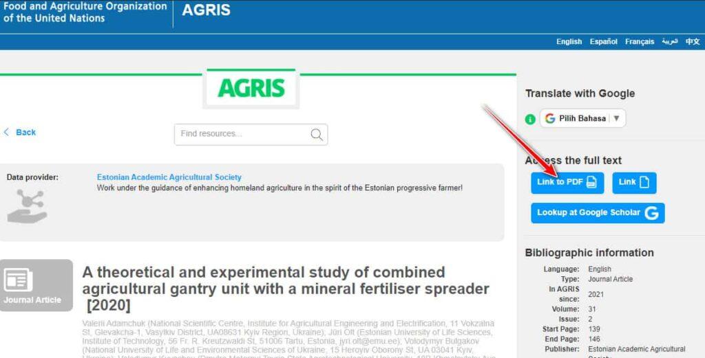 Download jurnal internasional di AGRIS