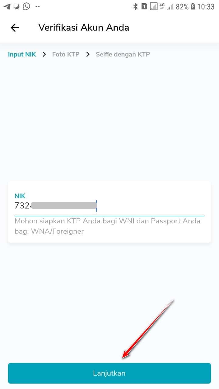 Verifikasi NIK di PLN Mobile