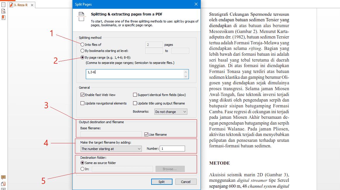split dan extract pdf di nitro