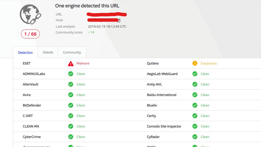 url scanner (virus total)