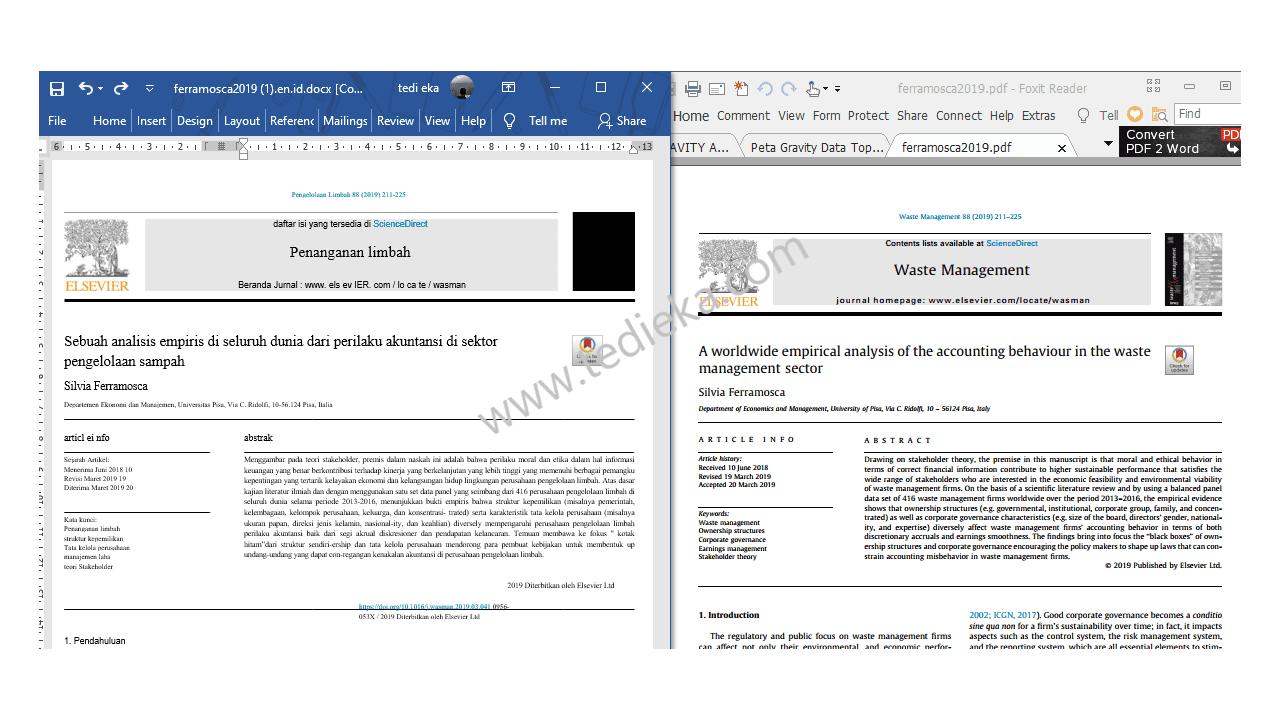 Hasil translate jurnal via onlinedoctranslator