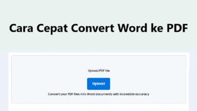 Bagaimana Cara Convert File PDF ke Dokumen Word?