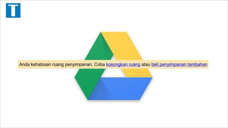 cara mengosongkan google drive