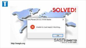 Aplikasi SasPlanet error unable to load map(s) Aborting