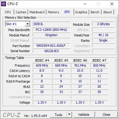 Cek Detail RAM di CPU-Z
