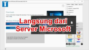 Cara download windows 10 iso dari server microsoft