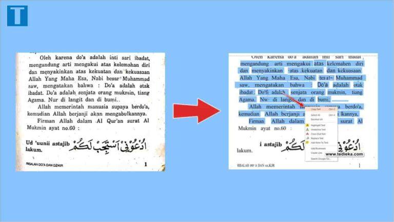 Cara mengubah gambar menjadi teks